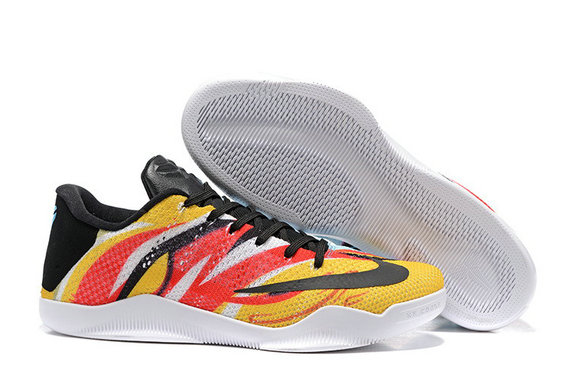 Cheap Wholesale Nike Kobe 11 XI Low Yellow Red Black White Orange
