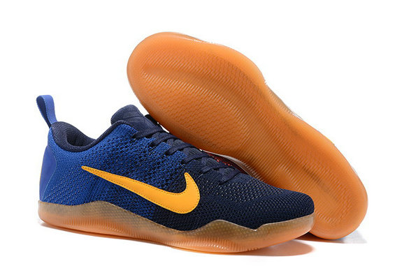 Cheap Wholesale NikeKobe11XI Low Gold Yellow Blue