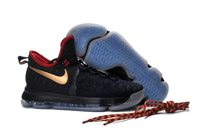 Kids Nike Kevin Durant 9 Gold Black Blue Red