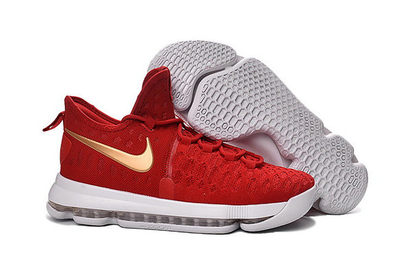 Kids Nike Kevin Durant 9 Red Gold White
