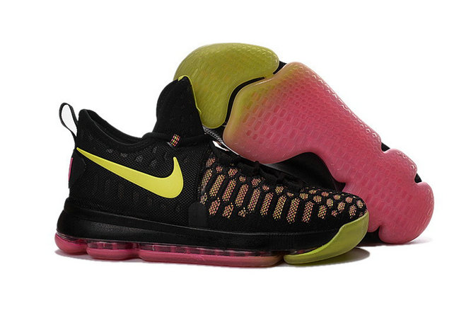 Kids Nike Kevin Durant 9 Yellow Black Pink