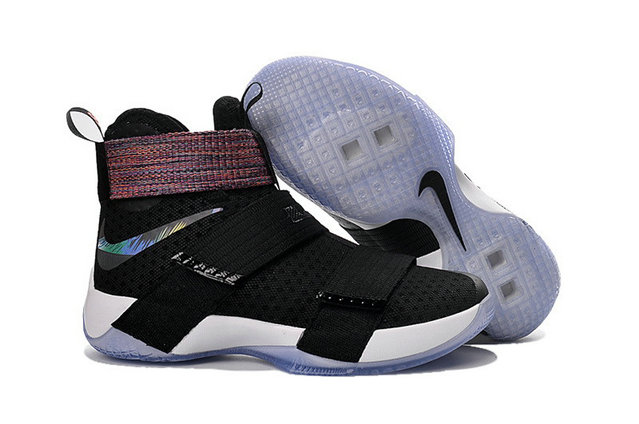 Cheap Wholesale Nike Lebron Soldier 10 Kids Black Colorful