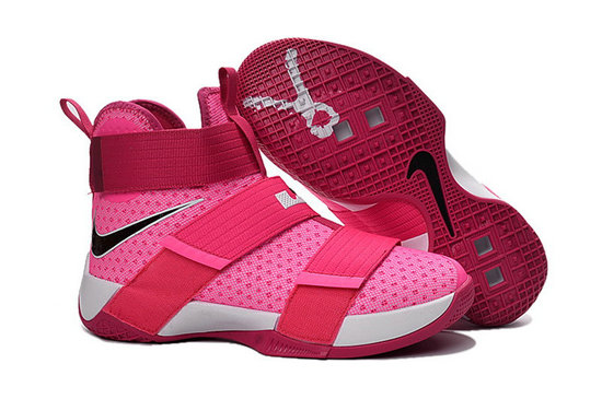 Cheap Wholesale Nike Lebron Soldier 10 Kids Pink Black White