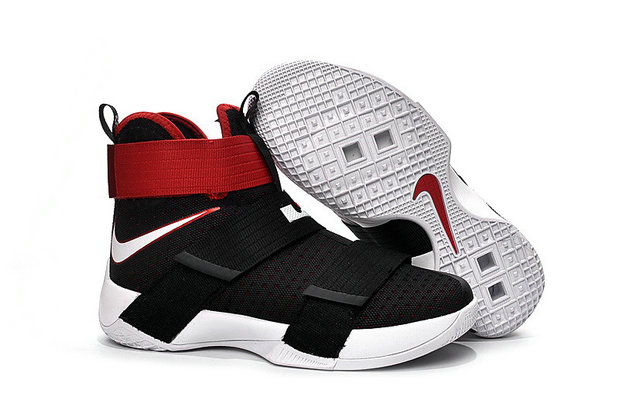 Cheap Wholesale Nike Lebron Soldier 10 Kids Red Black White