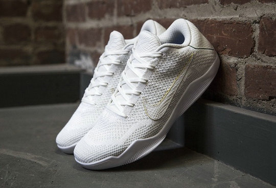 Cheap Wholesale NikeKobe 11 Flyknit All White
