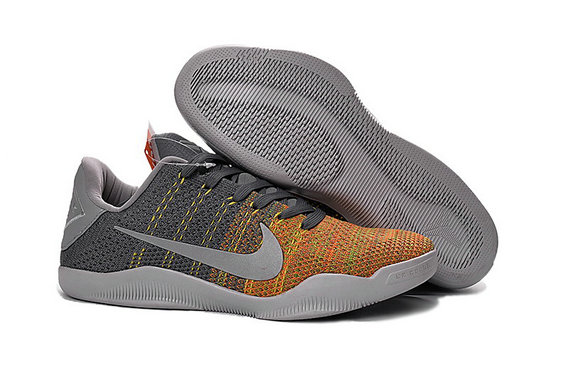 Cheap Wholesale NikeKobe 11 Grey Yellow Orange