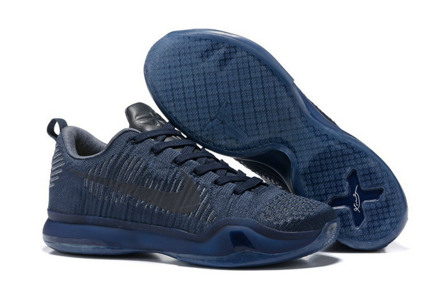 Cheap Wholesale NikeKobe 10 Flyknit All Grey Black