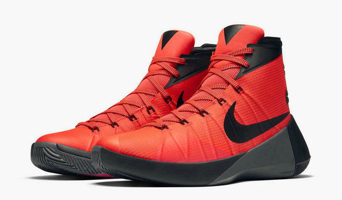 Cheap Wholesale Nike Hyperdunk 2015 Cheap Wholesale On Sale Bright Crimson Black Dark Grey
