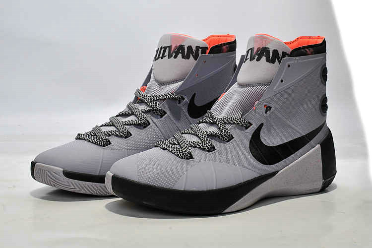Cheap Wholesale Nike Hyperdunk 2015 Cool Grey Black Orange