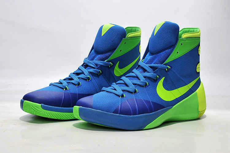 Cheap Wholesale Nike Hyperdunk 2015 Blue Green Volt