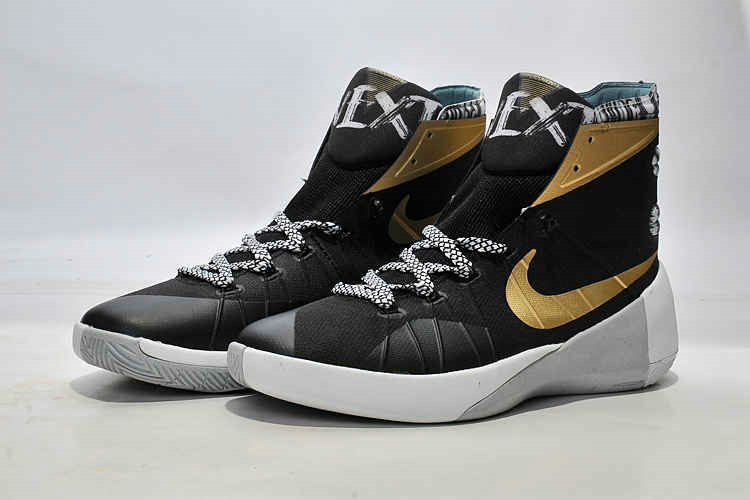Cheap Wholesale Nike Hyperdunk 2015 Black Metallic Gold White