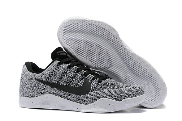 Cheap Wholesale Nike Zoom Kobe11 Flyknit Grey Black