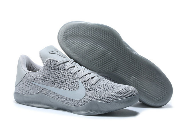 Cheap Wholesale Nike Zoom Kobe11 Grey Silver