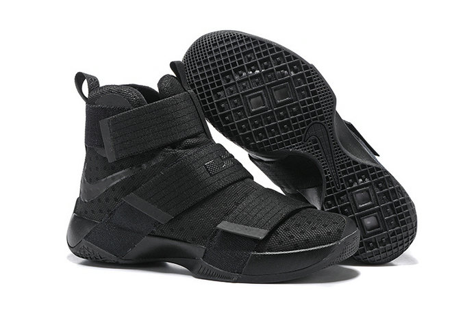 Cheap Wholesale NikeLebronSoldier 10 Black