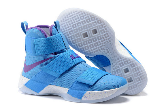 Cheap Wholesale NikeLebronSoldier 10 Blue Purple White