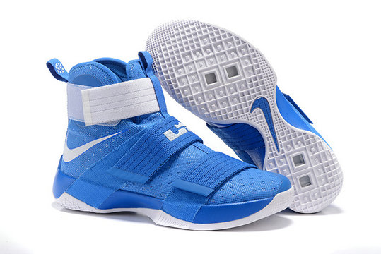 Cheap Wholesale NikeLebronSoldier 10 Blue White