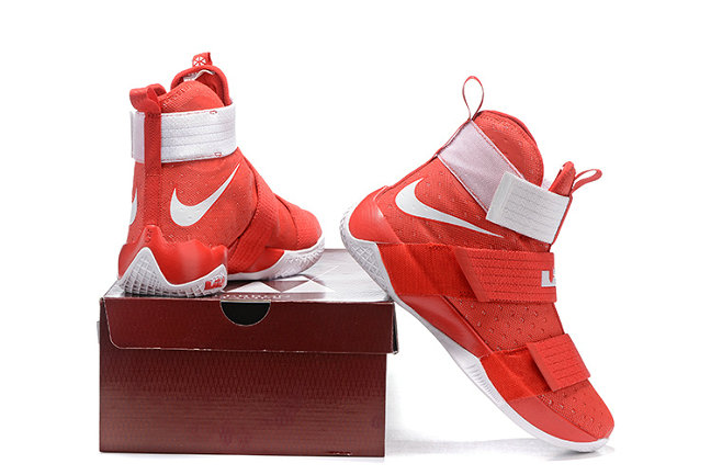 Cheap Wholesale NikeLebronSoldier 10 Red White