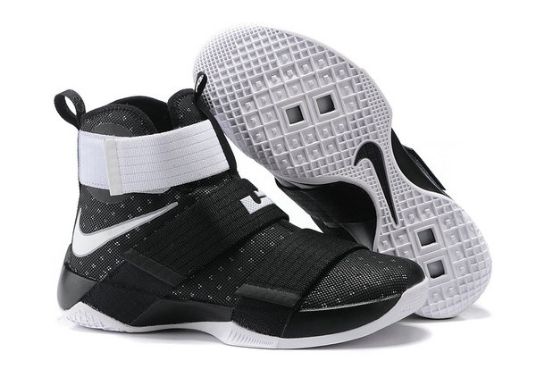 Cheap Wholesale NikeLebronSoldier 10 WhiteBlack