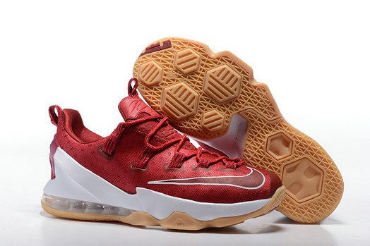 Cheap Wholesale NikeLebronJames 13 Low Red White