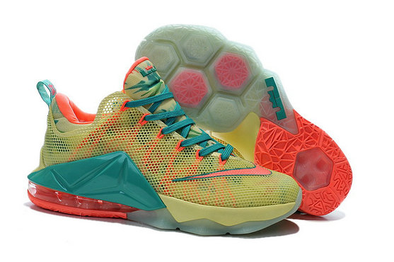 Cheap Wholesale Lebron 12 Low Shoes Pink Green Blue Orange Yellow