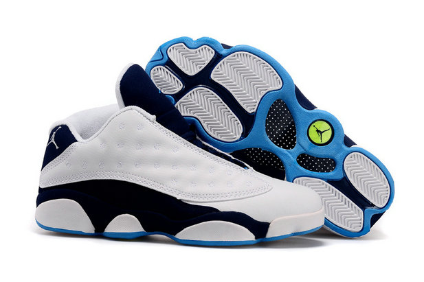 Cheap Wholesale Womens Air Jordan 13 Retro Low White Blue