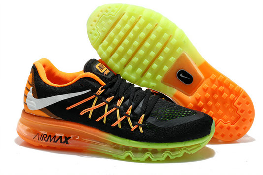 Nike Air Max 2015 Atomic Orange Volt Electric Green Black
