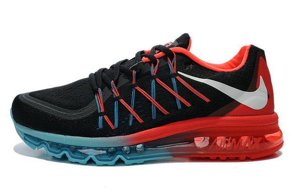 Nike Air Max 2015 Black Blue Fire Red