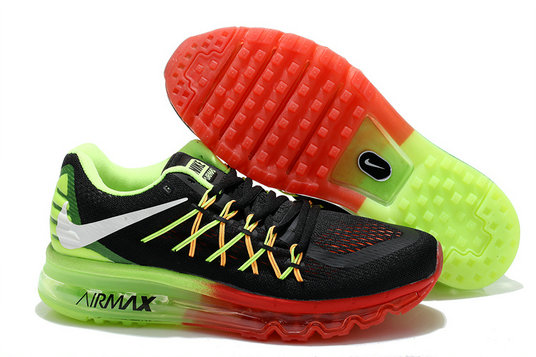 Nike Air Max 2015 Black Fluorescent Green Red