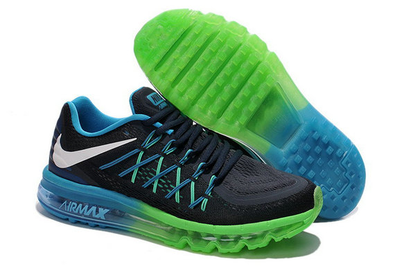 Nike Air Maxs 2015 Black Green Blue
