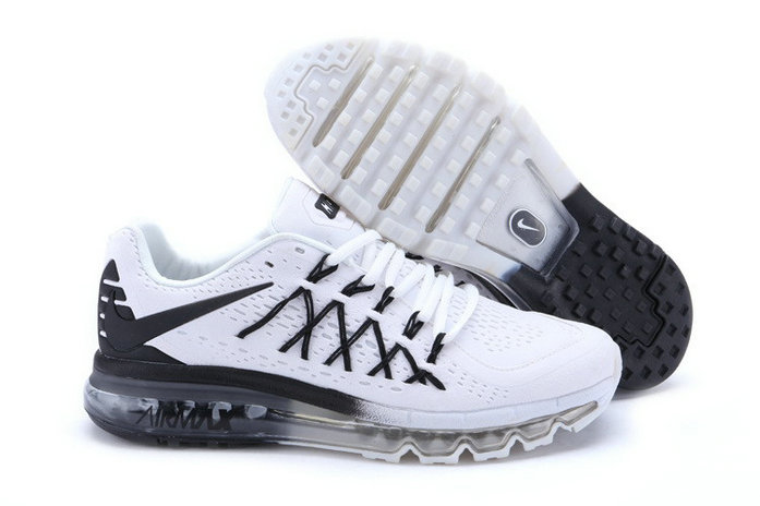 Cheap Wholesale Air Max 2015 Women White Black