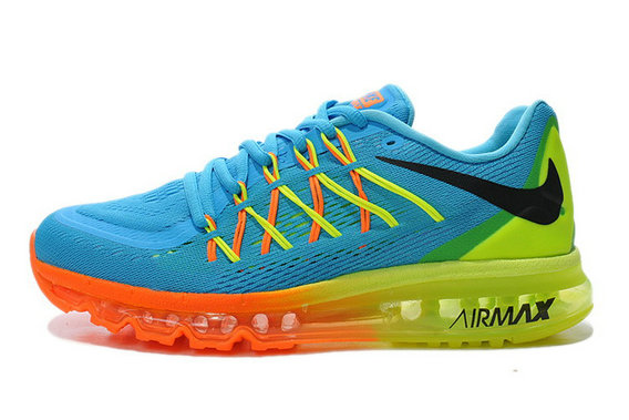 Cheap Wholesale Air Max 2015 Womens Blue Orange Green Black