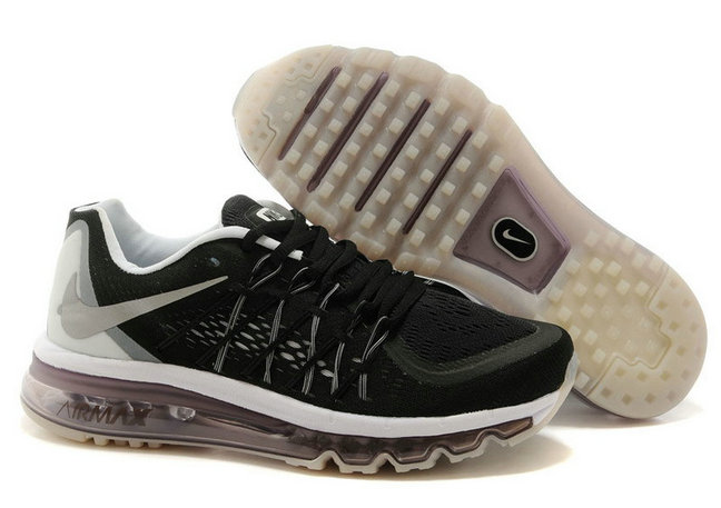 Cheap Wholesale Air Max 2015 Womens Black White