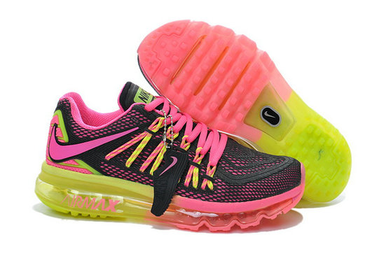 Cheap Wholesale Nike Air Max 2015 Womens Black Pink Green