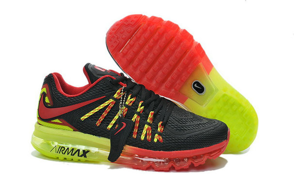 Cheap Wholesale Nike Air Max 2015 Womens Fire Red Green Black