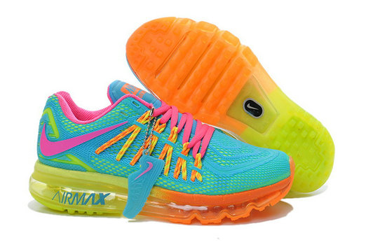 Cheap Wholesale Nike Air Max 2015 Womens Orange Pink Blue