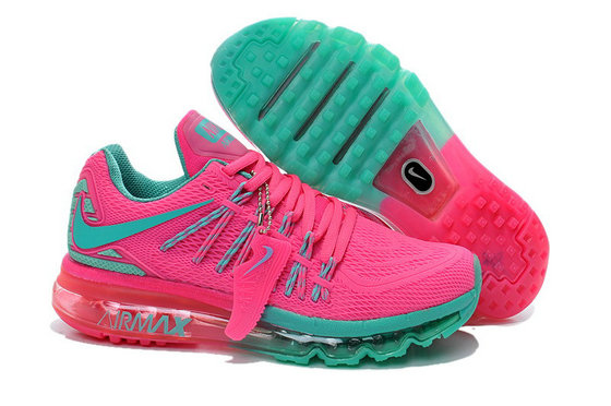 Cheap Wholesale Nike Air Max 2015 Womens Pink Green