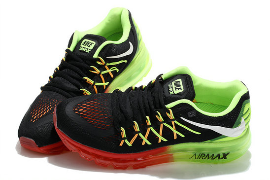 Nike Wmns Air Max 2015 Black Fluorescent Green Red