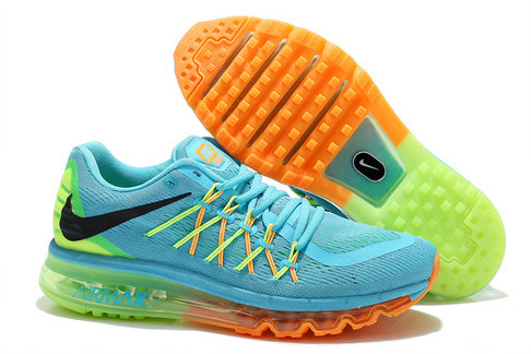 Nike Wmns Air Max 2015 Gamma Blue Black Total Orange