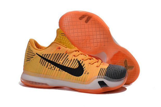 Cheap Wholesale Nike Zoom Kobe 10 X Yellow Orange Black Grey