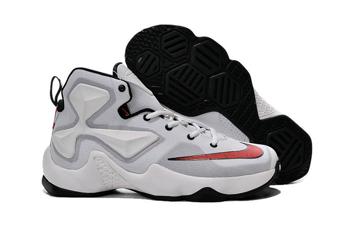 Cheap Wholesale Lebron 13 Black White Red For Kids