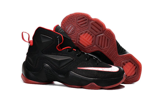 Cheap Wholesale Lebron 13 Red Black White For Kids