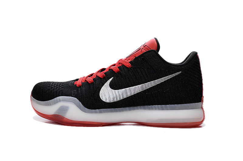 Cheap Wholesale Nike Kobe X Elite Low Black Red White Silver