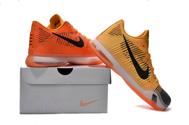 Cheap Wholesale Nike Kobe X Elite Low Yellow Black Grey