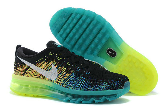 Nike Flyknit Air Max Black Water Blue Green