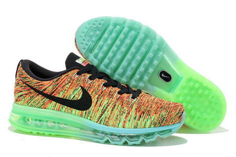 Nike Flyknit Air Max Ultra Crimson Electronic Green Super Punch Red Black