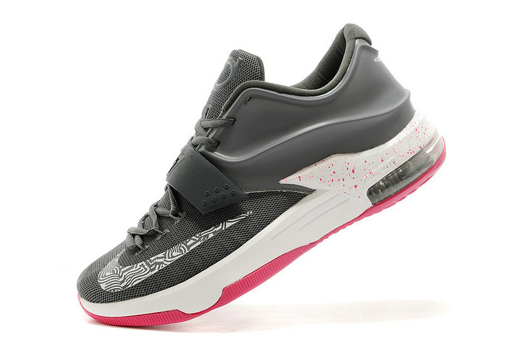 pretty nice 45f53 b6fca Nike Kevin Durant KD 7 Custom Charcoal Grey White-Hyper Pink For Sale