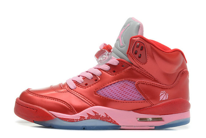 Girls Cheap Wholesale Air Jordan 5 Retro GS Valentines Day Gym Red Ion Pink For Sale
