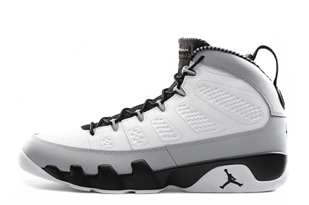 Cheap Wholesale Air Jordan 9 Retro Birmingham Barons White Black-Natural Grey For Sale