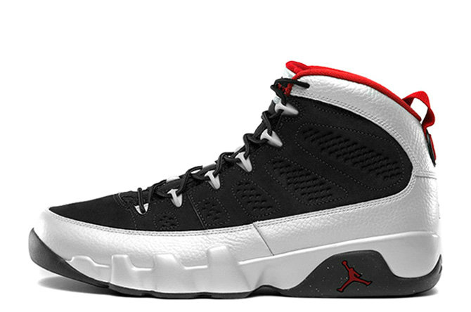 Cheap Wholesale Air Jordan 9 Retro Johnny Kilroy Black Metallic Platinum-Gym Red For Sale