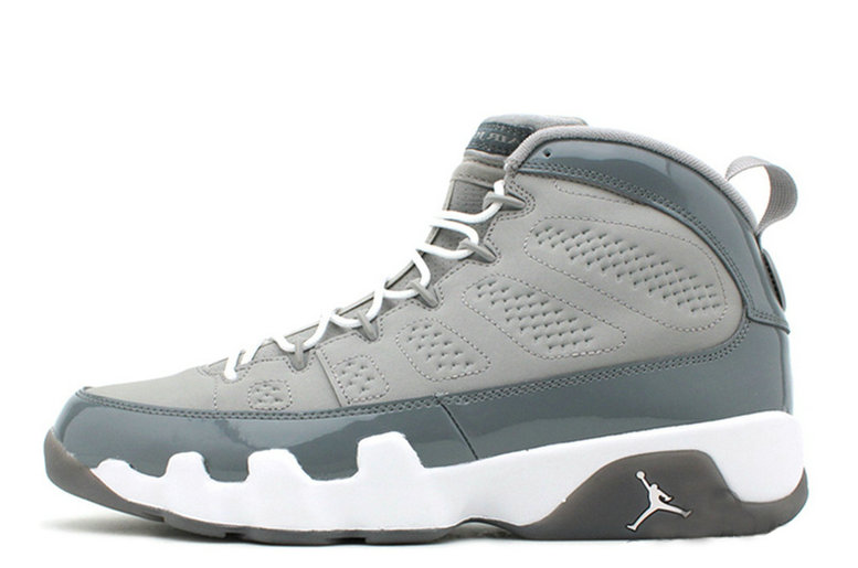 Cheap Wholesale Air Jordan 9 Retro Medium Grey Cool Grey-White For Sale Online